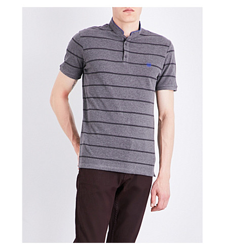 THE KOOPLES SPORT Stripe-print cotton polo shirt (Gryb6