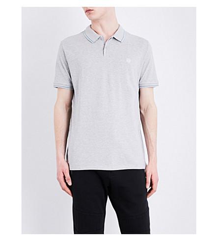 THE KOOPLES SPORT Crest-detail cotton-piqué polo shirt (Gry17