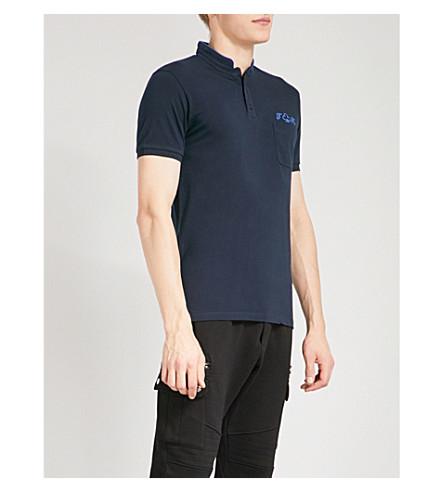 THE KOOPLES Logo-embroidered cotton-piqué polo shirt (Nav22