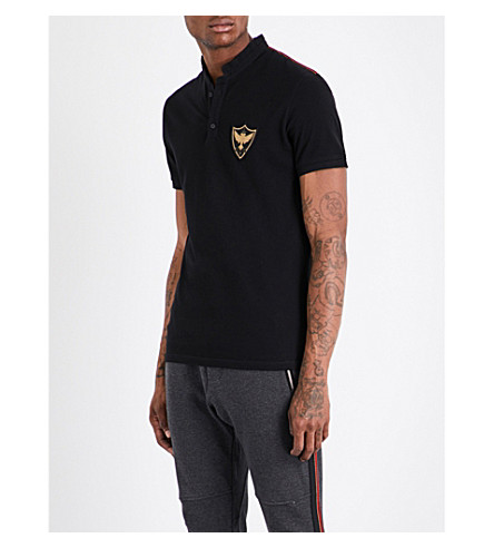 THE KOOPLES SPORT Slim-fit mandarin collar polo shirt (Bla26