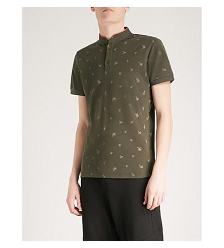 THE KOOPLES Palm-print cotton polo shirt (Kak01