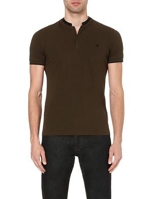 THE KOOPLES Contrast-collar polo shirt