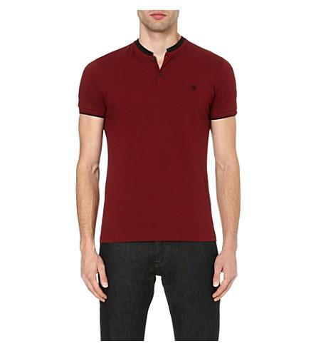 THE KOOPLES Contrast-collar polo shirt (Black