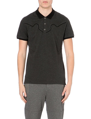 THE KOOPLES SPORT Short-sleeved cotton-piqué polo shirt