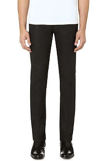 THE KOOPLES Coated slim-fit straight jeans
