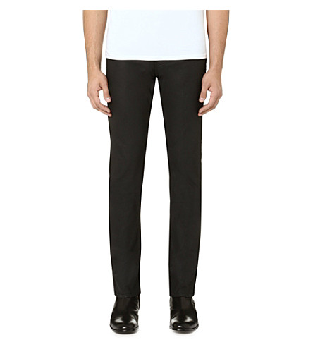 THE KOOPLES Coated slim-fit straight jeans (Black