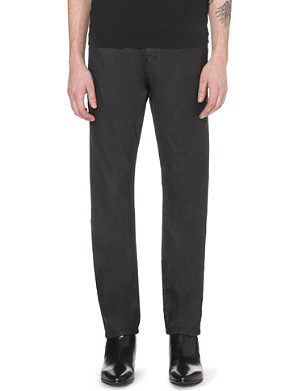 THE KOOPLES Coated straight-cut mid-rise jeans