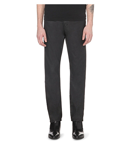 THE KOOPLES Coated straight-cut mid-rise jeans (Black