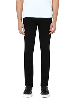 THE KOOPLES SPORT Canvas slim-fit straight jeans