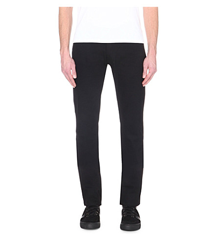 THE KOOPLES SPORT Mid-rise straight-leg jeans (Black+brut