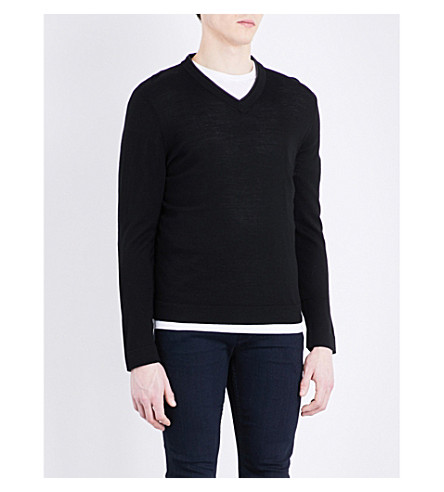 THE KOOPLES V-neck merino wool sweater (Bla01