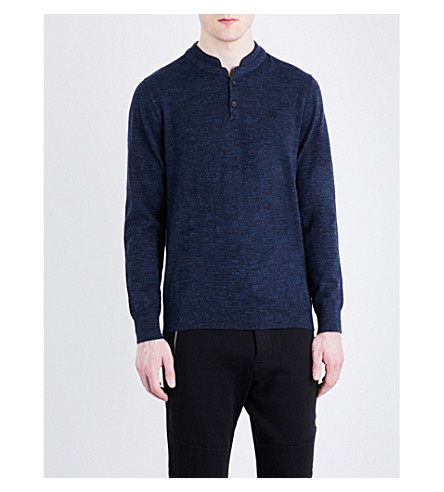THE KOOPLES SPORT Buttoned cotton sweater (Blu77