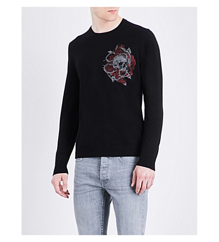 THE KOOPLES Skull wool jumper (Bla01