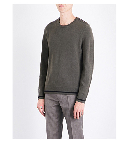 THE KOOPLES Button-detail wool and cashmere blend jumper (Kak01