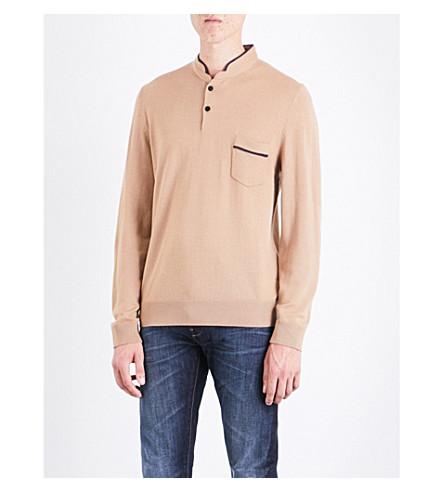 THE KOOPLES Officer-collar wool jumper (Cam08