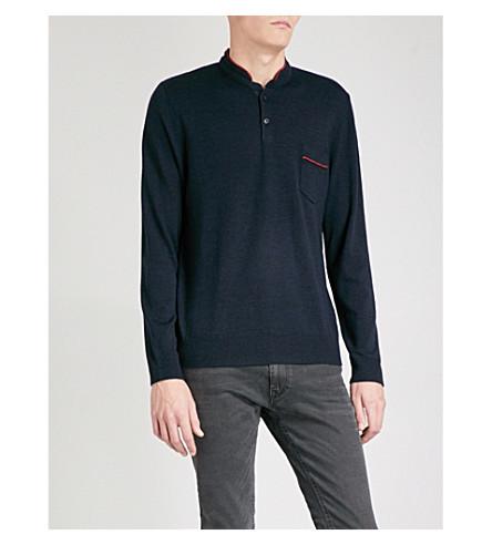 THE KOOPLES Band-collar merino wool jumper (Nav23