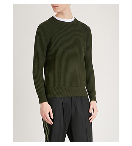 THE KOOPLES Ribbed-knit cotton jumper (Kak01