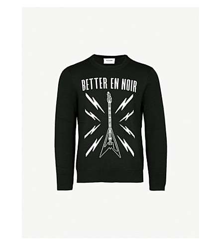 THE KOOPLES Guitar-intarsia wool-blend jumper (Bla28