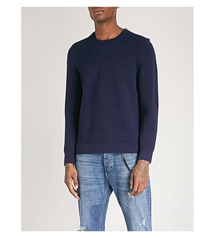 THE KOOPLES Zip-detail wool-blend jumper (Nav01
