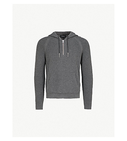 THE KOOPLES Knitted hoody and pocket cotton pullover (Gry03