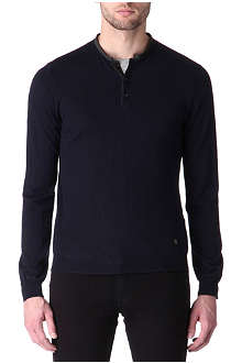 THE KOOPLES Contrast-collar knitted jumper