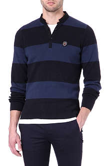 THE KOOPLES SPORT Striped Henley jumper