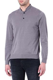 THE KOOPLES SPORT Contrast-collar merino jumper
