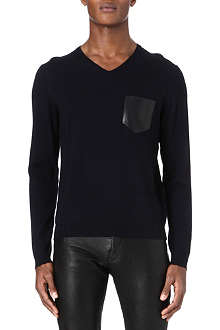 THE KOOPLES V-neck merino wool jumper