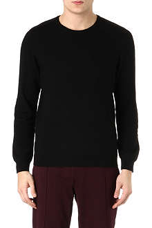THE KOOPLES SPORT Leather-detail merino wool jumper