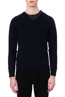 THE KOOPLES Contrast-detail wool jumper