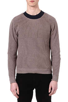 THE KOOPLES Contrast ribbed knit jumper