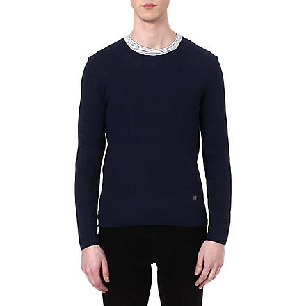 THE KOOPLES Decorative knit jumper (Navy