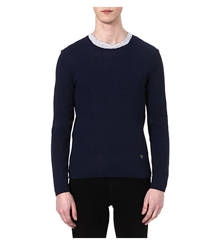 THE KOOPLES Fine-knit jumper (Navy