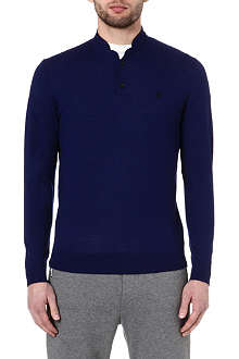 THE KOOPLES SPORT Leather trim jumper
