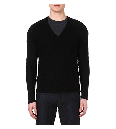 THE KOOPLES Cable-knit jumper (Black