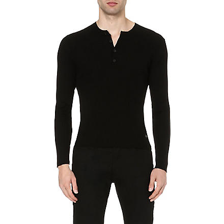 THE KOOPLES Ribbed-knit jumper (Black