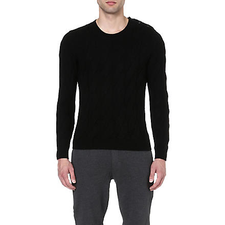 THE KOOPLES SPORT Cable-knit jumper (Black
