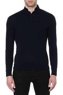 THE KOOPLES SPORT Leather-trim jumper