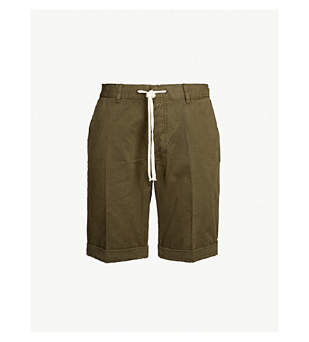 THE KOOPLES Drawstring cotton shorts (Oli01