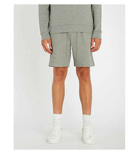 THE KOOPLES Striped-detail cotton shorts (Gry30