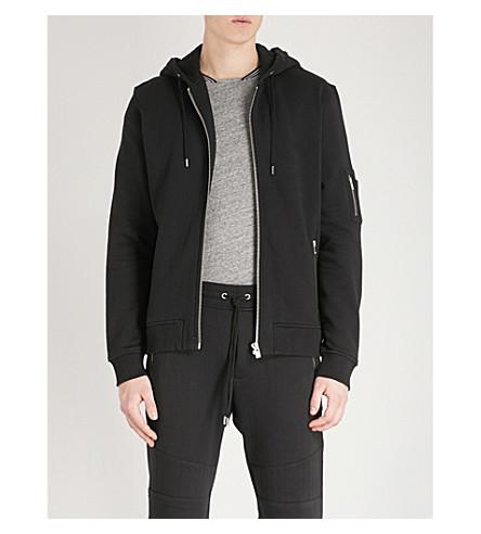 THE KOOPLES Zipped cotton-jersey hoody (Bla01