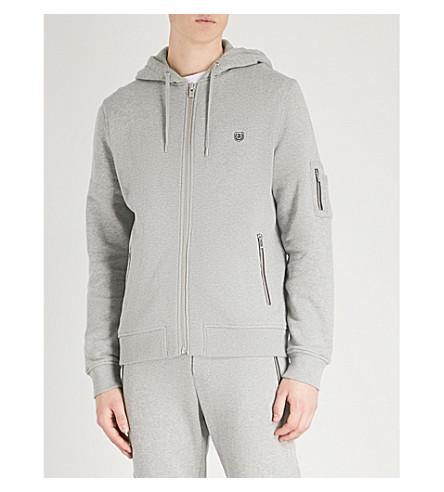 THE KOOPLES Fleece-lined cotton-jersey hoody (Gry05