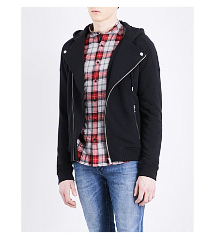 THE KOOPLES Biker jersey hoody (Bla01