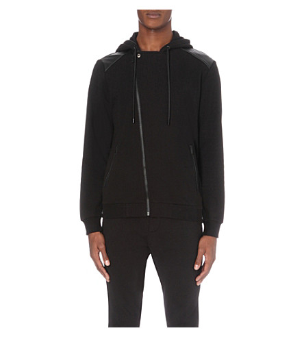 THE KOOPLES Contrast-panel jersey jacket (Black