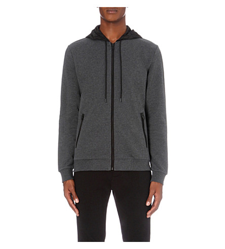THE KOOPLES Zip-up cotton-jersey hoody (Middle+grey