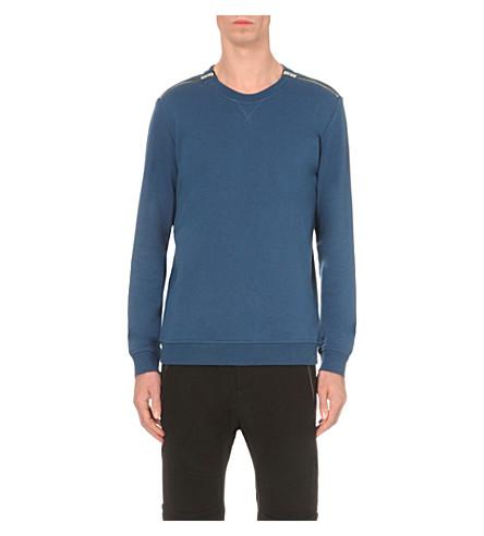 THE KOOPLES Shoulder zip sweatshirt (Blue