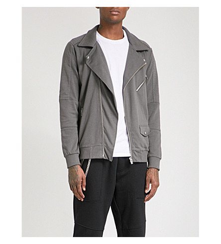 THE KOOPLES Biker-collar stretch-cotton jacket (Kak12