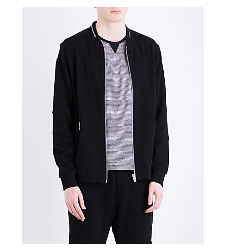 THE KOOPLES SPORT Ribbed wool bomber jacket (Bla01