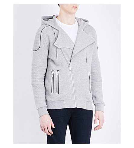 THE KOOPLES SPORT Biker stretch-cotton sweatshirt (Gry05