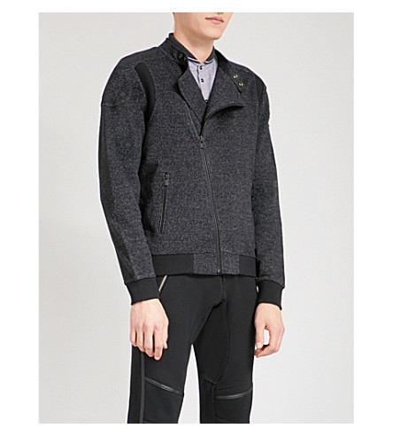 THE KOOPLES Contrast-panel cotton jacket (Bla73